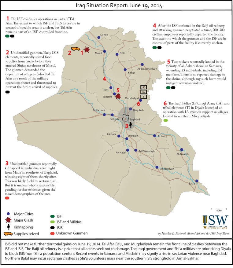 Iraq Situation Report June 19th 2014